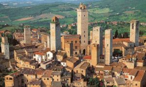 Wedding Venues in Tuscany - landscape of San Gimignano